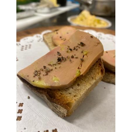 Le toast de foie gras confit maison