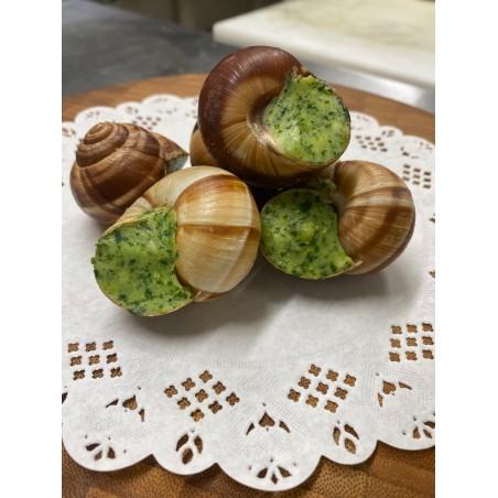 Les véritables escargots de Bourgogne au beurre de Baratte - La douzaine