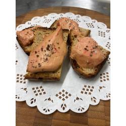 Le toast de foie gras chaud sur pain Poilane