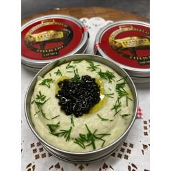 La brandade mi-fumé au caviar osciètre
