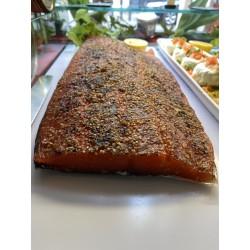 Le saumon mariné algues et sésames maison 68,20 €/kg      [le prix vous sera communiqué et à régler à la livraison]